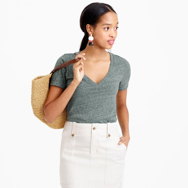 J.Crew Speckled V-Neck T-Shirt