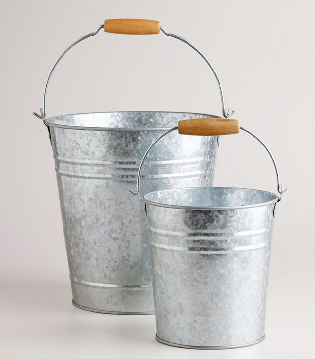 World Market Galvanized Metal Pails