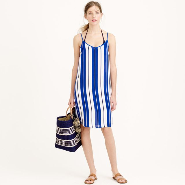 J.Crew Striped Crepe Dress