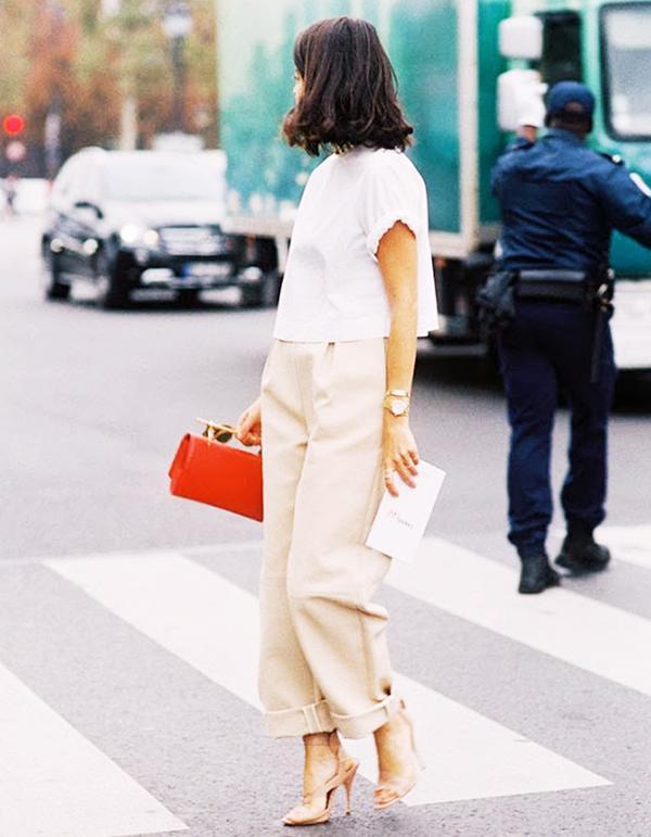12. Wear it with dressy trousers.