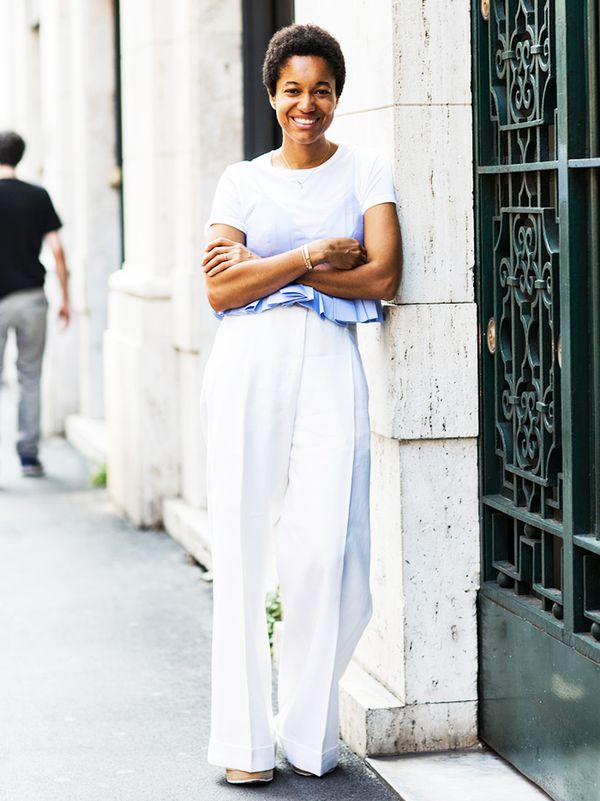 8. Layer it under a cami.