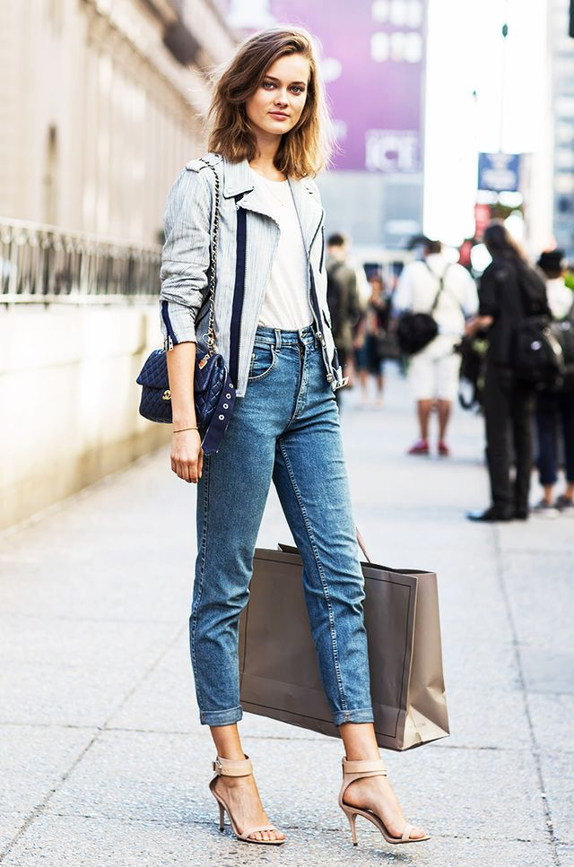 10. Tuck it into high-waisted jeans.