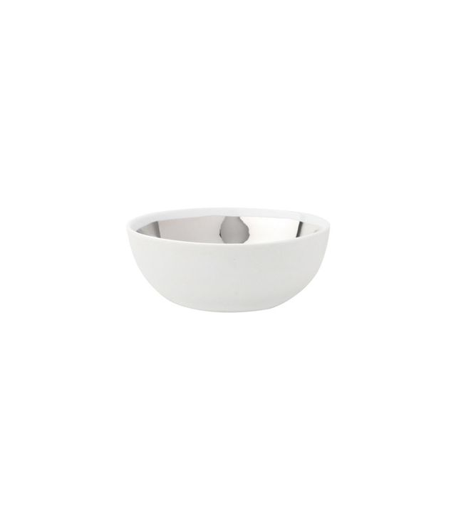 Dot&Bo Porcelain and Platinum Serving Bowl