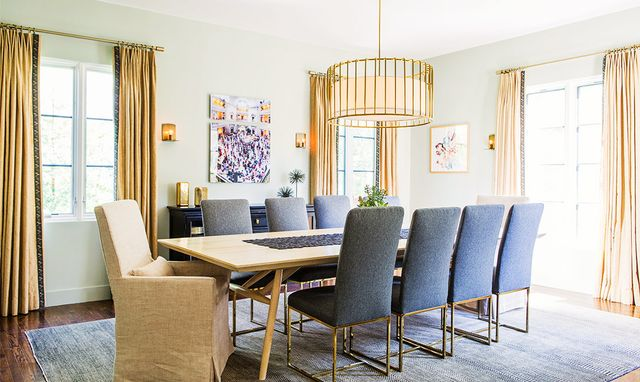 """Sklar created dynamic compositions in each of the home's spaces by curating a mix of shapes, styles, and textures. """"Paying attention to the 'visual weight' of furniture and..."""