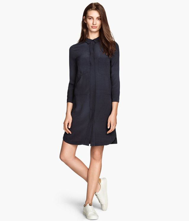 H&M Crêpe Shirt Dress