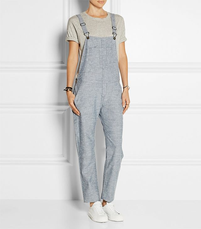 Rag & Bone Cotton-Chambray Overalls