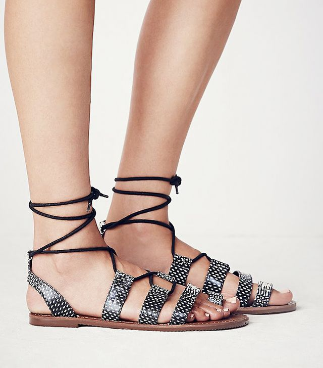 Free People Vegan Maddie Tie-Up Sandals