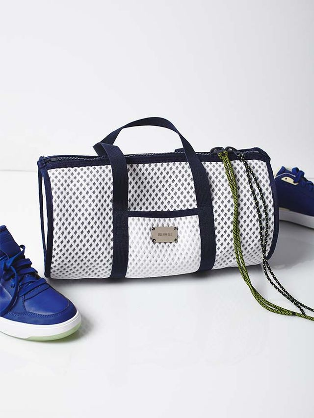 Jiseung Lee Sporty Net Duffle