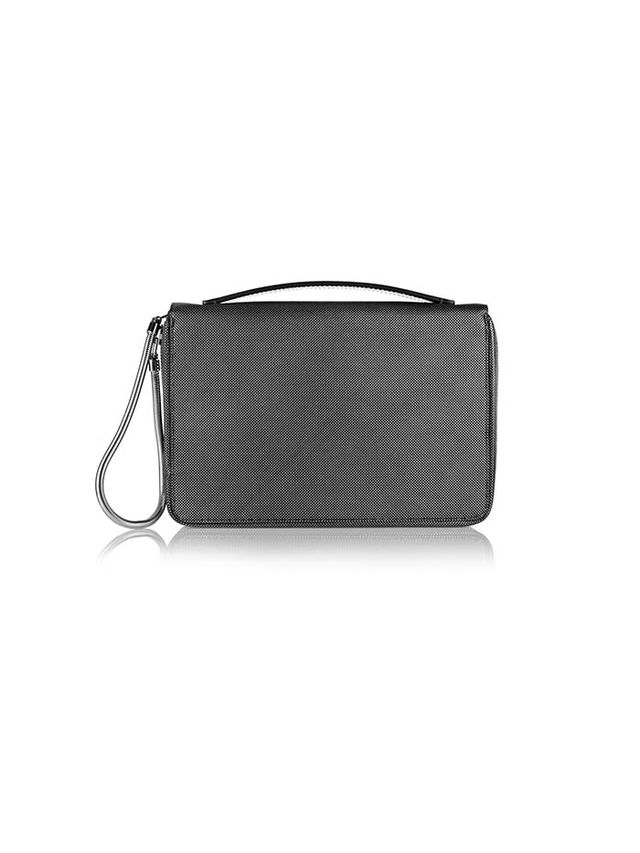 Alexander Wang Chastity Metallic Textured-Leather Planner Case