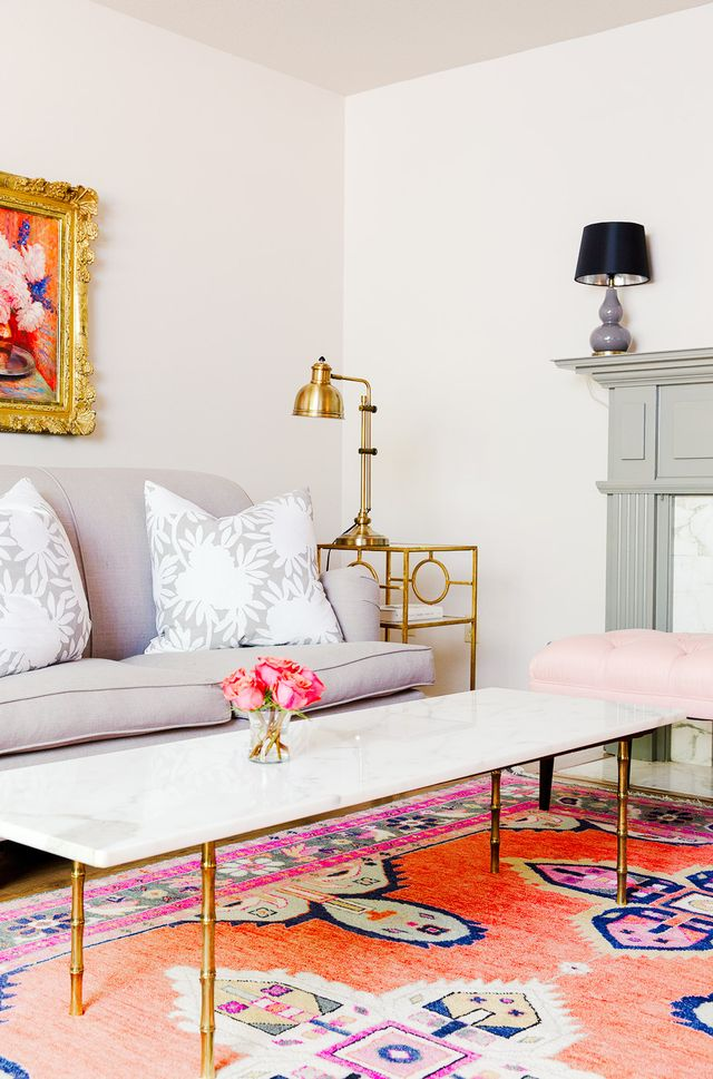 "Some of Wilson's most loved pieces aren't her own designs, but serendipitous finds. ""My favorite finds are my marble-and–faux-bamboo brass tables, which I scored off..."