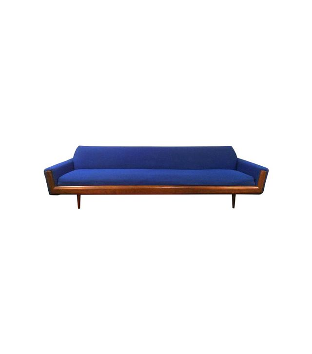 Chairish Blue Adrian Pearsall Style Walnut Sofa