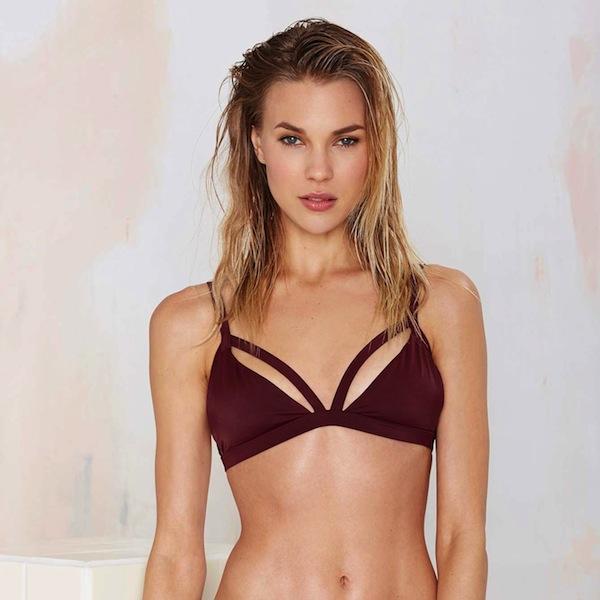 Nasty Gal Mind the Gap Caged Bikini Bottom