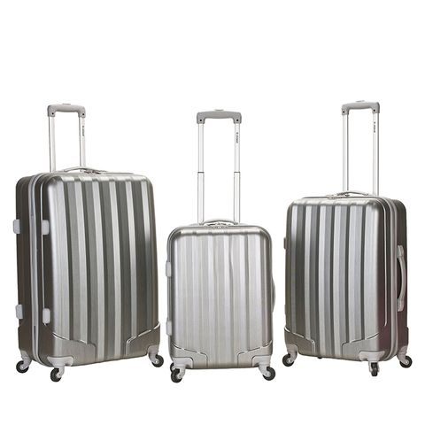 Metallic 3 Piece ABS Spinner Luggage Set