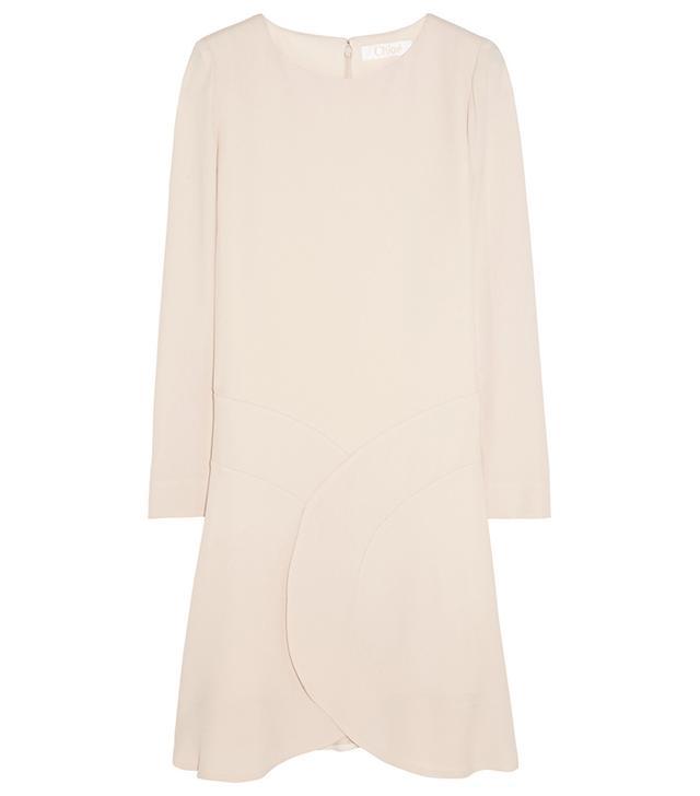 Chloé Paneled Crepe Mini Dress