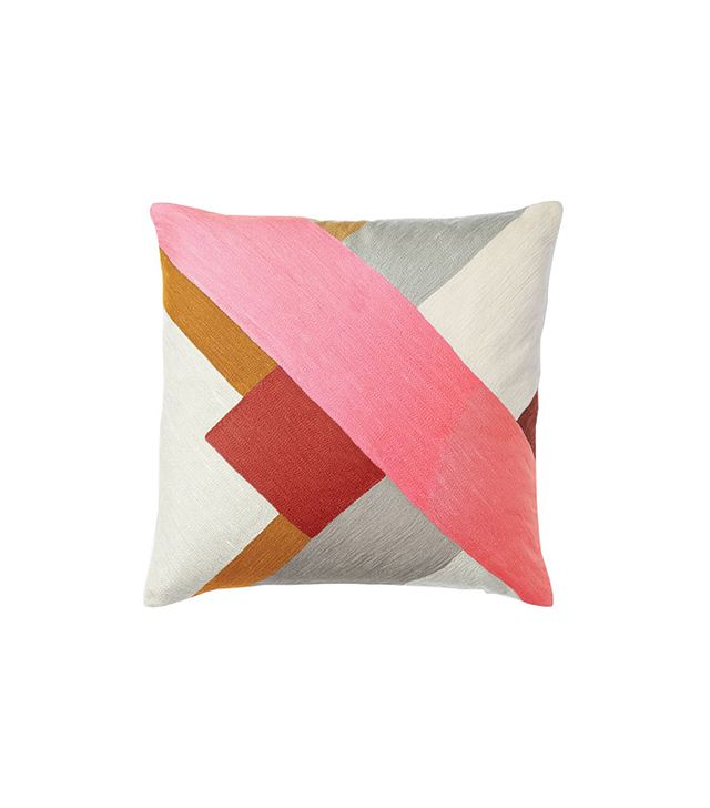 West Elm Crewel Modern Blocks Pillow Cover