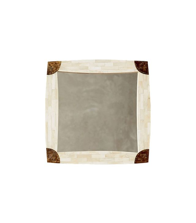Anthropologie Cornered Bone Mirror