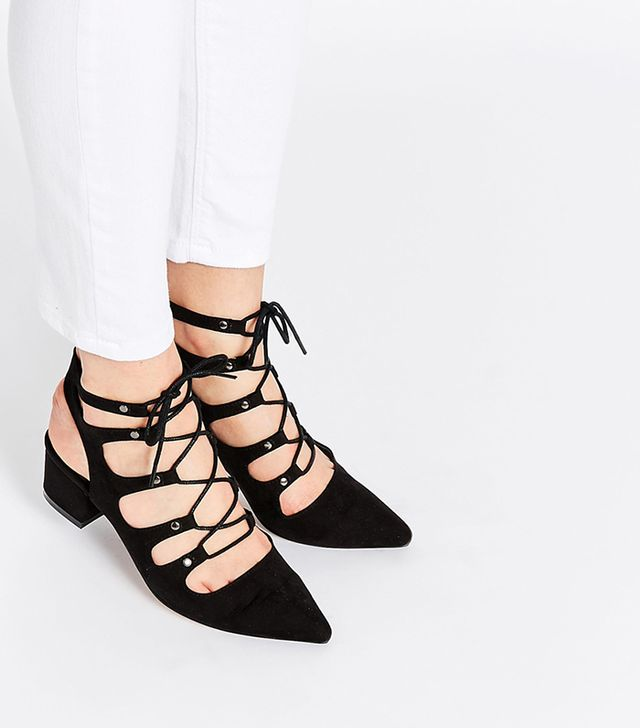 ASOS Time Out Lace-Up Heeled Sandals
