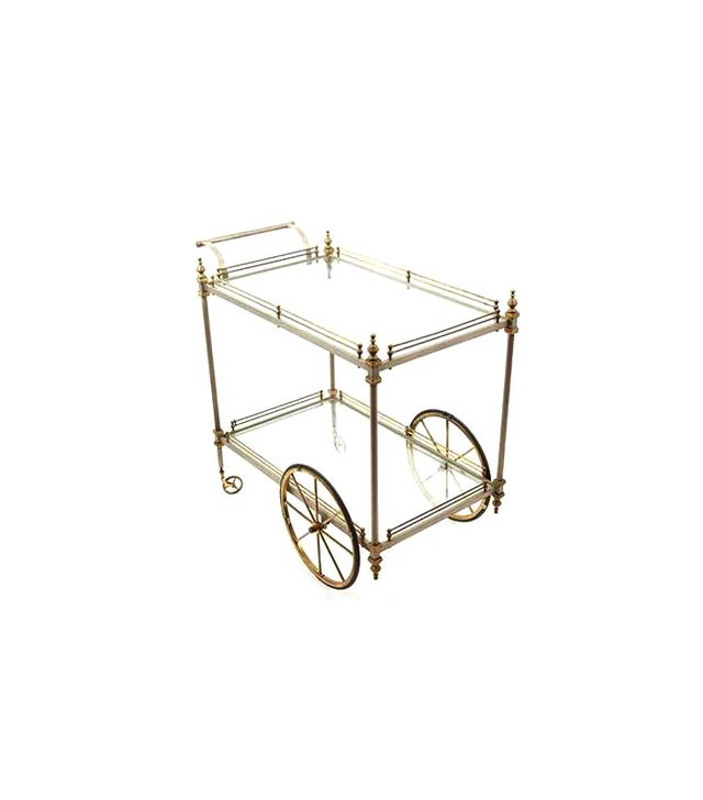 Joan's Apartment Glass Bar Cart