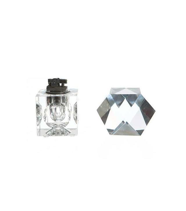 Roger's Glass Paperweight & Desktop Lighter