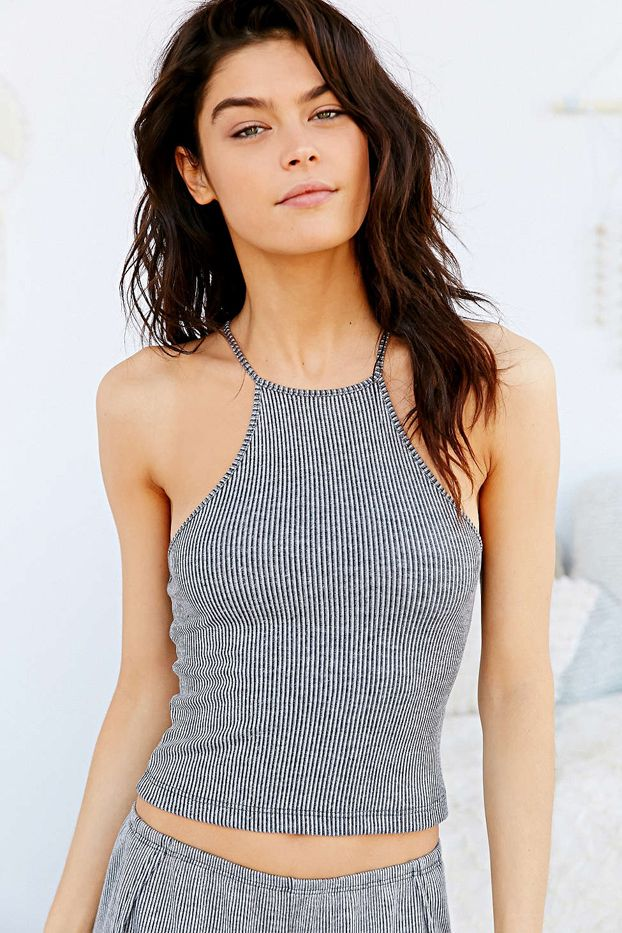 Out From Under Rib Cropped Tank Top