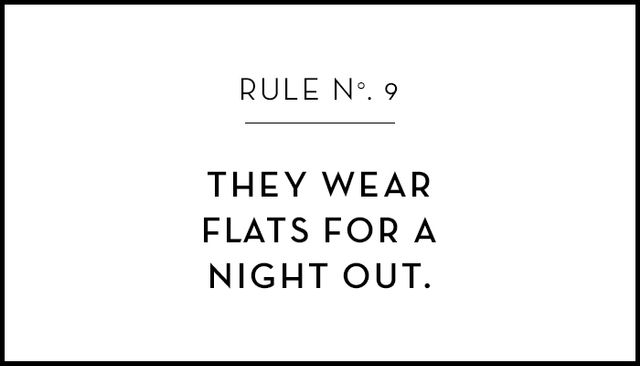 Not only do flat shoes make a night out easier to navigate, shall we say, but also, there's something about a girl in flats after dark that's cool and carefree in the best way possible.