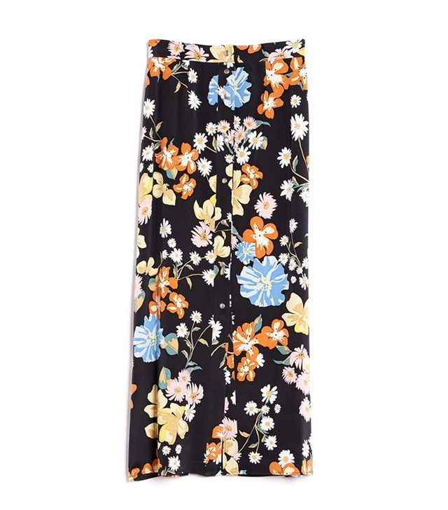 Sea Big Floral Skirt