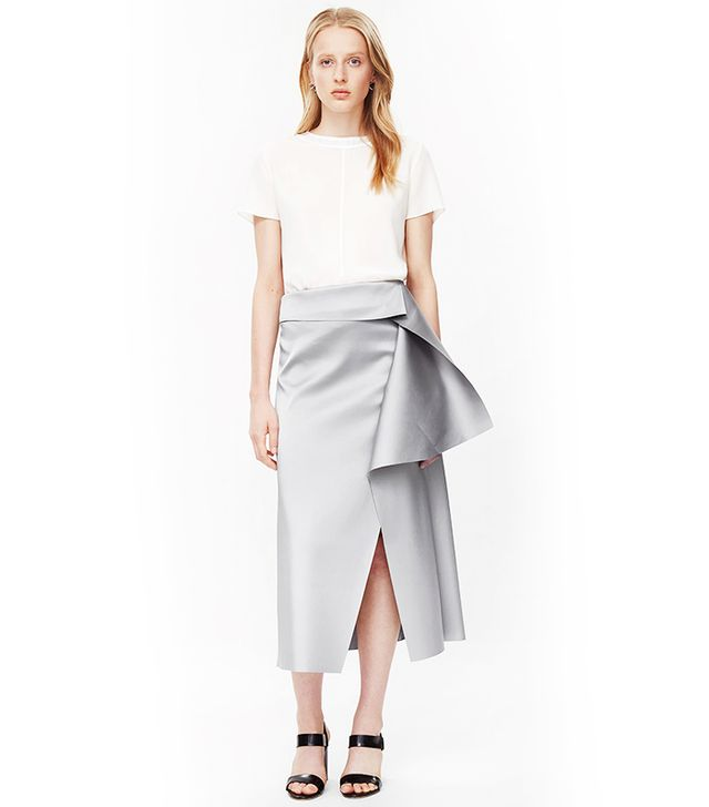 COS Raw-Cut Draped Skirt