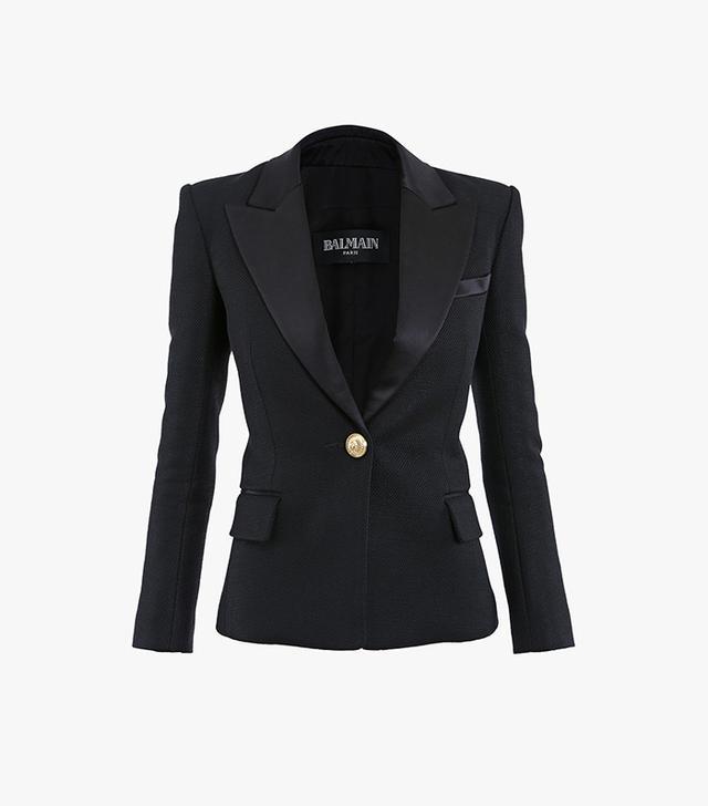 Balmain Jersey One Button Blazer
