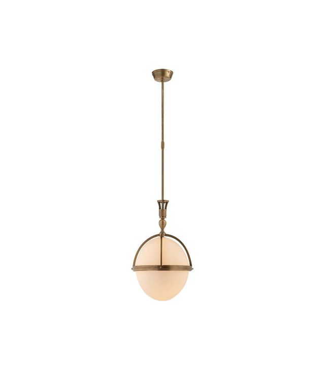 Visual Comfort Billy Pendant in Hand-Rubbed Brass