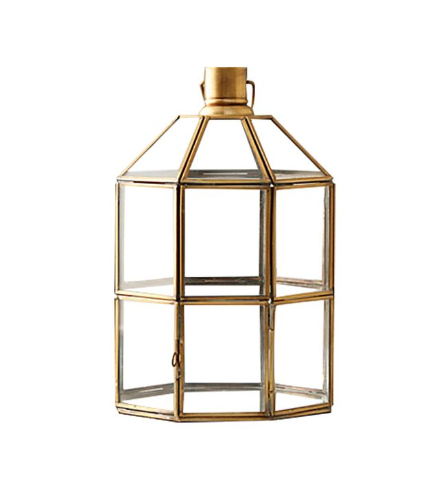 Terrain Brass Windowpane Lantern