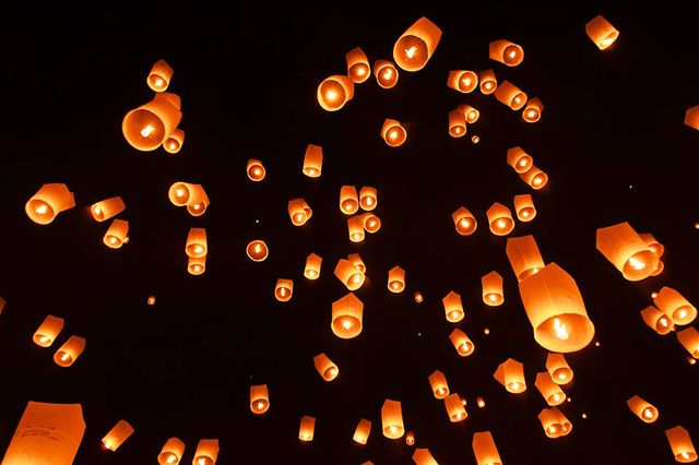 Discovering a Sky of Paper Lanterns in Koh Samui, Thailand