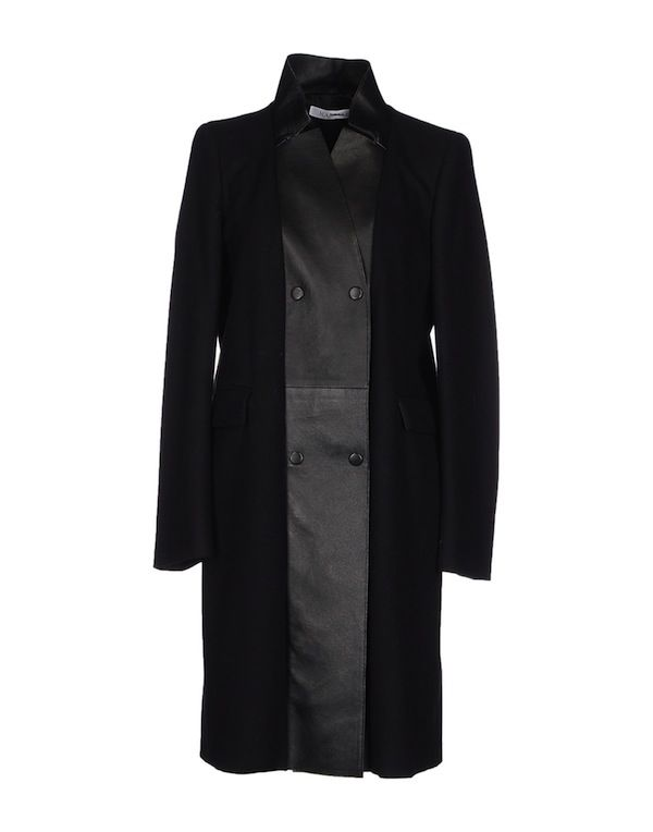 Marella Contrast Leather Coat