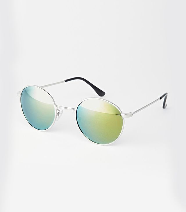 ASOS Trip Metal Round Mirror Sunglasses