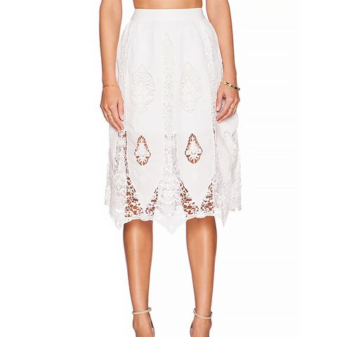 Luella Skirt, White