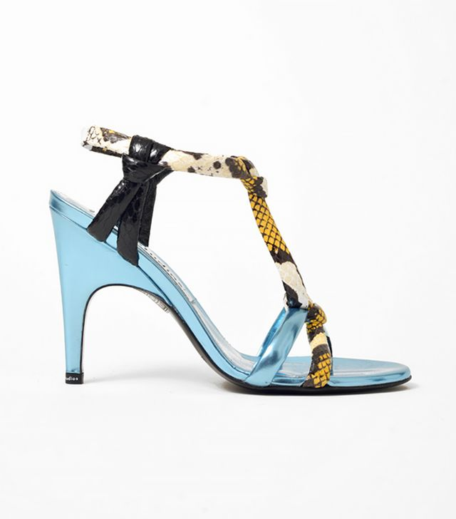 Acne Studios Bira Metallic Mix Sandals