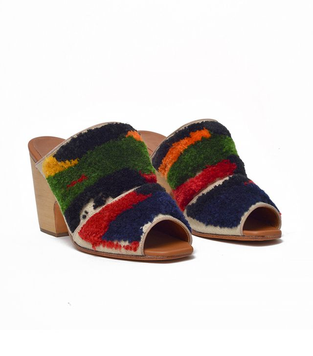 Rachel Comey Dahl Embroidered Open Toe Mules