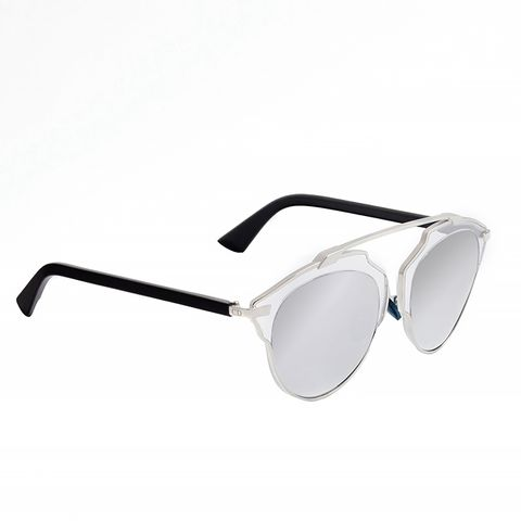 So Real Sunglasses, Black/Silver