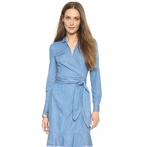 Aya Wrap Dress, Light Indigo