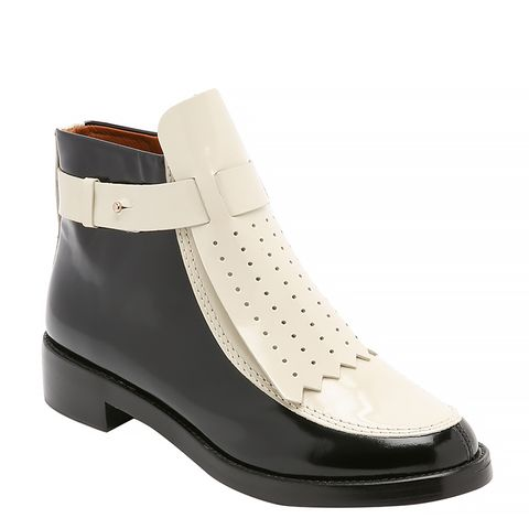 Hyde Flat Booties, Black/Lait