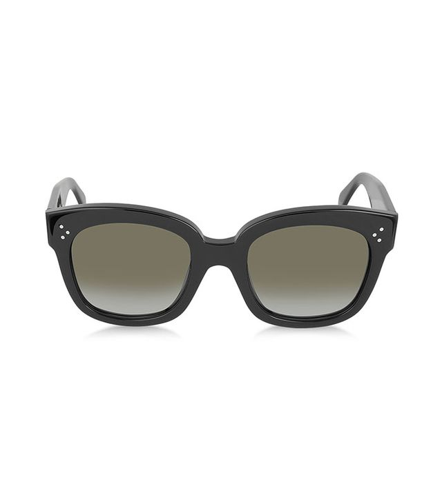 Céline CL 41805/S Audrey Black Acetate Sunglasses