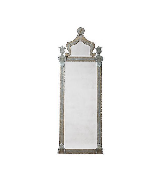 Restoration Hardware 19th Century Baroque Ravenna Etched Leaner Mirror