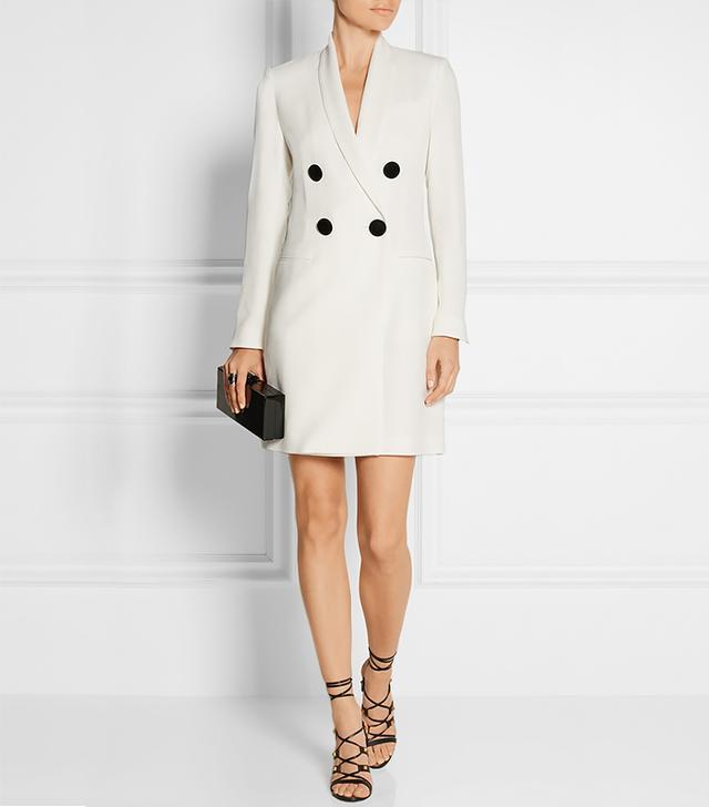 Adam Lippes Double-breasted Crepe Mini Dress, White