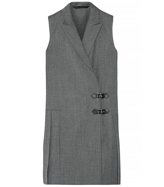 Marc by Marc Jacobs Pleated Wool Mini Dress, Grey