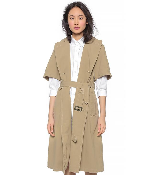 NLST Short Sleeve Trench Coat, Khaki