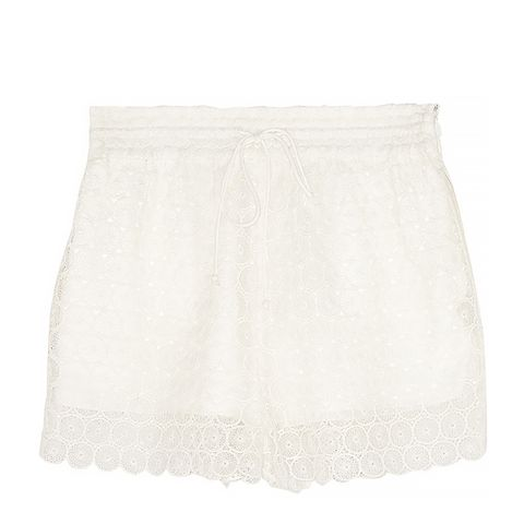 Chrochet Lace Shorts, White