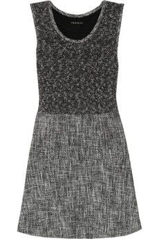 Theory Cozma Cotton-Blend and Tweed Dress