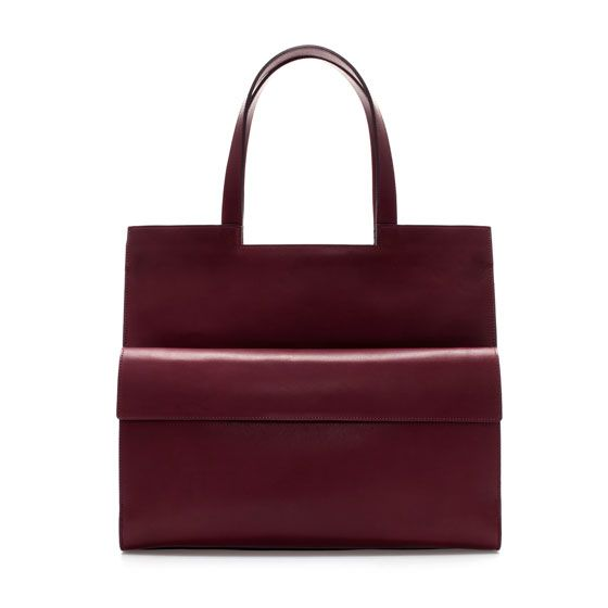 Zara  Rigid Shopper with Pocket