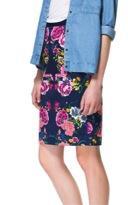 Zara Zara Floral Print Pencil Skirt