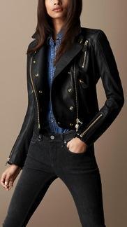 Burberry Prorsum  Lambskin Biker Jacket