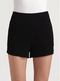 T by Alexander Wang  High-Waist Crepe Shorts